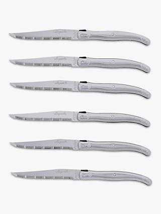 Laguiole Steak Knives, Stainless Steel, 6 Piece