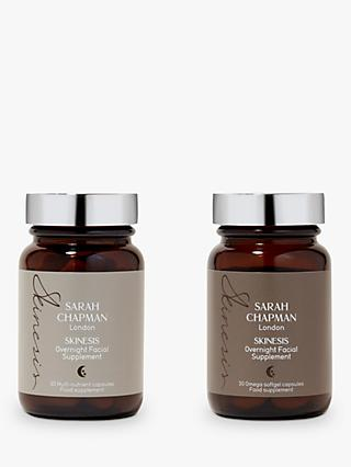 Sarah Chapman Overnight Facial Supplement Duo, 2 x 30 Capsules