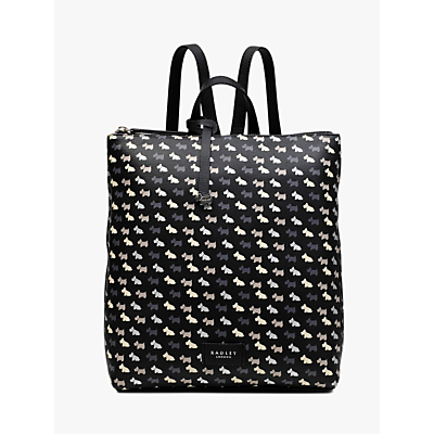 Radley Multi Dog Medium Leather Backpack, Black