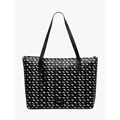 Radley Multi Dog Large Leather Tote Bag, Black