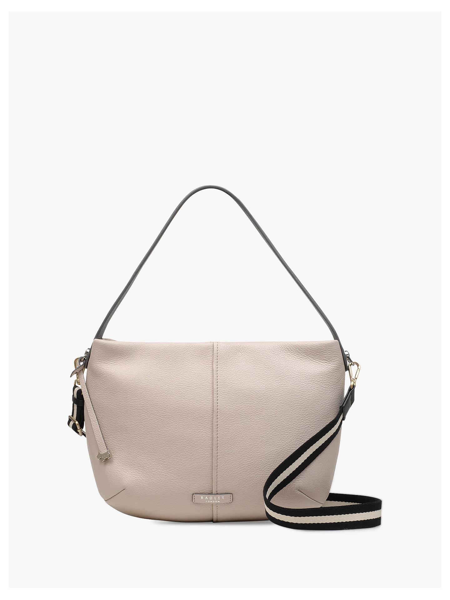 c2d6bc7608 Radley Rose Castle Leather Large Zip Top Cross Body Bag, Dove Grey