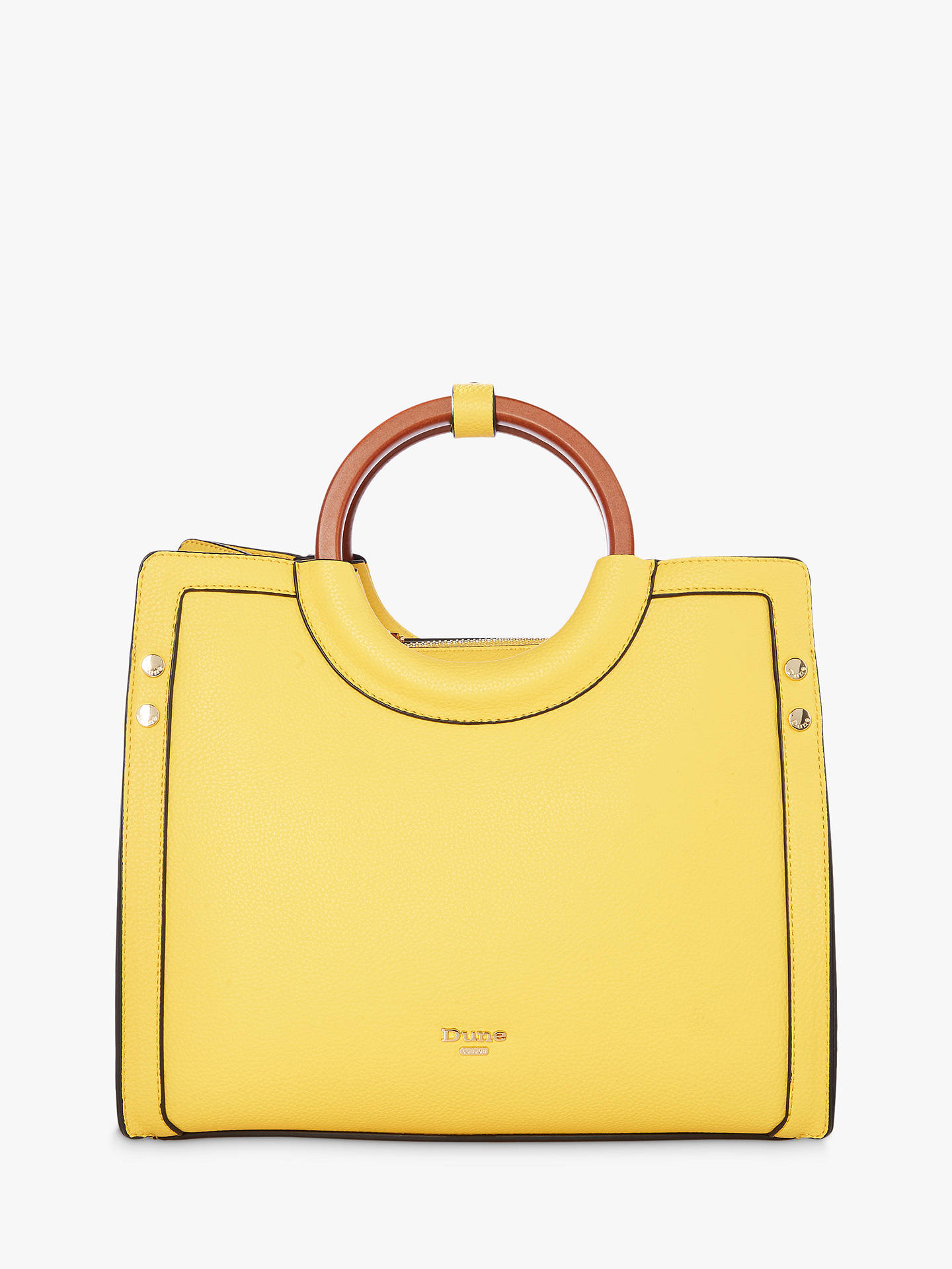 Buy Dune Dwoodly Round Handle Grab Bag, Yellow Online at johnlewis.com