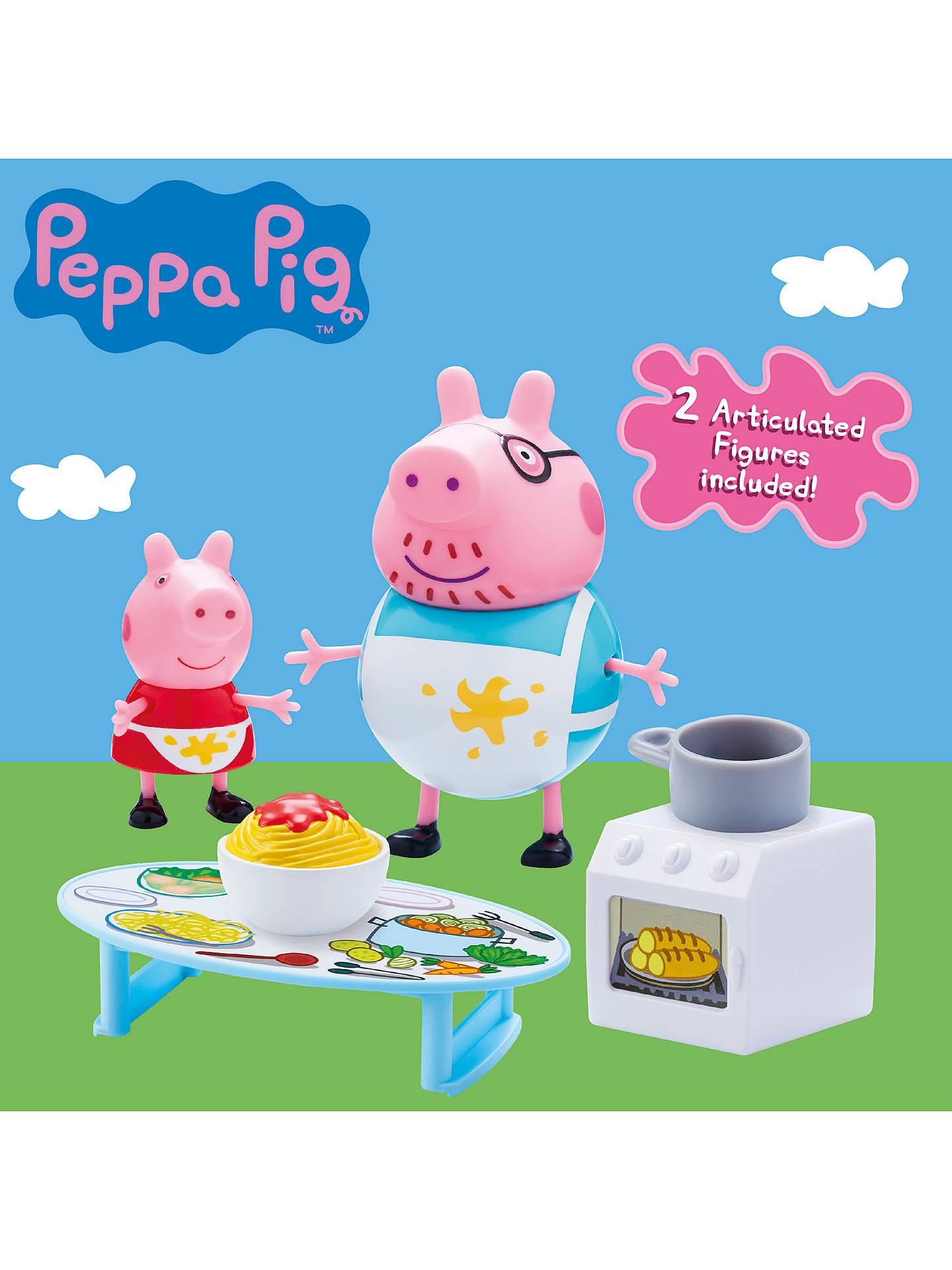 Peppa Pig Peppa S Messy Kitchen Playset At John Lewis Partners