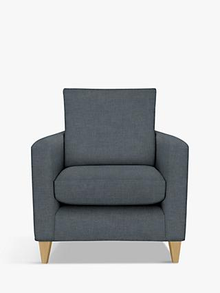 John Lewis & Partners Bailey Armchair, Light Leg, Hatton Steel