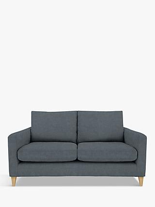 John Lewis & Partners Bailey Medium 2 Seater Sofa, Light Leg, Hatton Steel