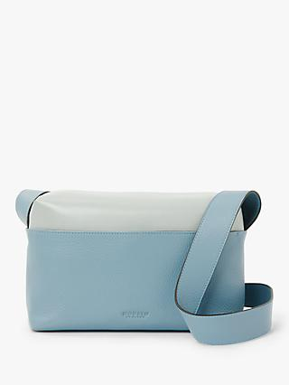 Modalu Lacey Leather Cross Body Camera Bag, Blue Mix