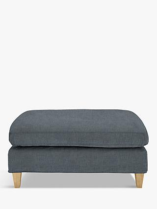 John Lewis & Partners Bailey Footstool, Light Leg, Hatton Steel