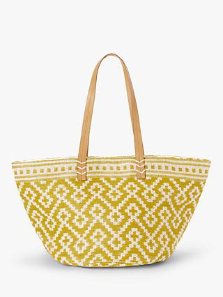 John Lewis & Partners Small Jute Cotton Shoulder Bag