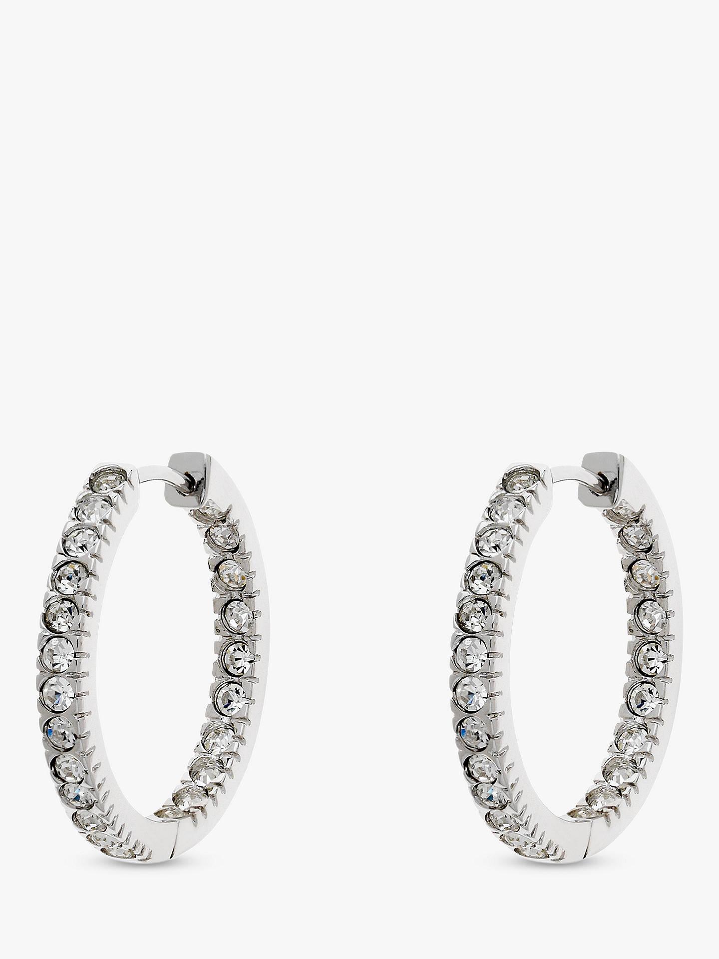 f3af3bc1b Buy Melissa Odabash Swarovski Crystal Large Hoop Earrings, Silver Online at  johnlewis.com