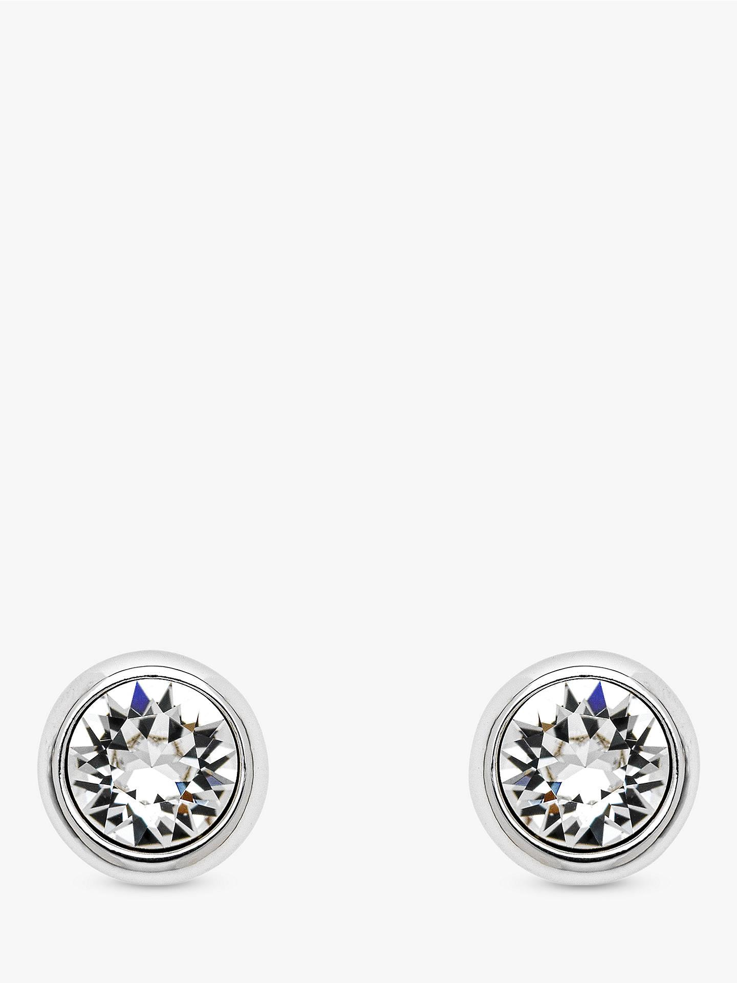1379dd346 Buy Melissa Odabash Swarovski Crystal Round Stud Earrings, Silver Online at  johnlewis.com