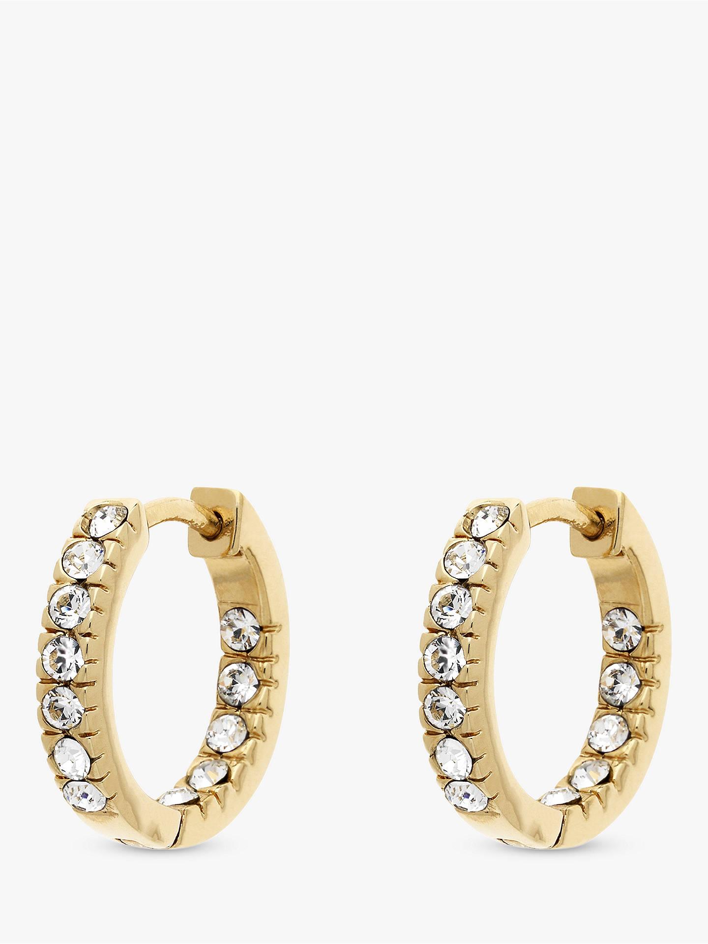 17dfb8fde Buy Melissa Odabash Swarovski Crystal Hoop Earrings, Gold Online at  johnlewis.com