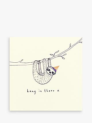 Ruth Jackson Hang In There Sloth Card