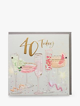 Belly Button Designs Glasses 40th Birthday Card
