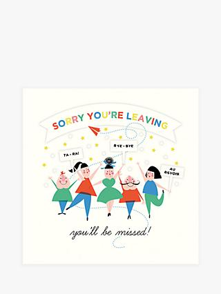 Art File Sorry You're Leaving Card