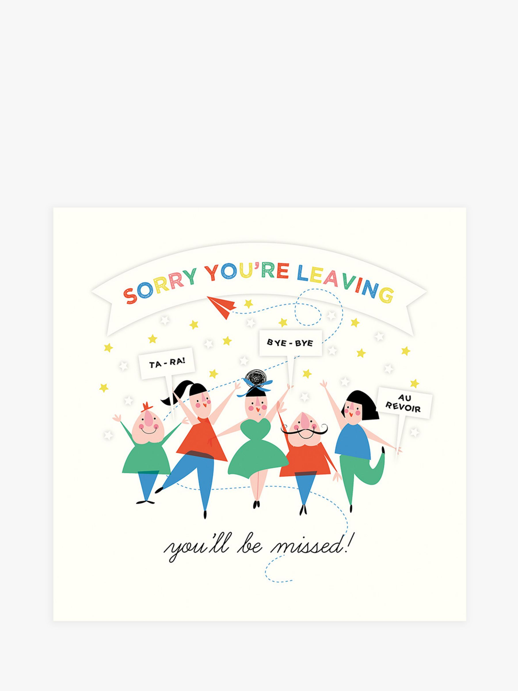 Art File Art File Sorry You're Leaving Card