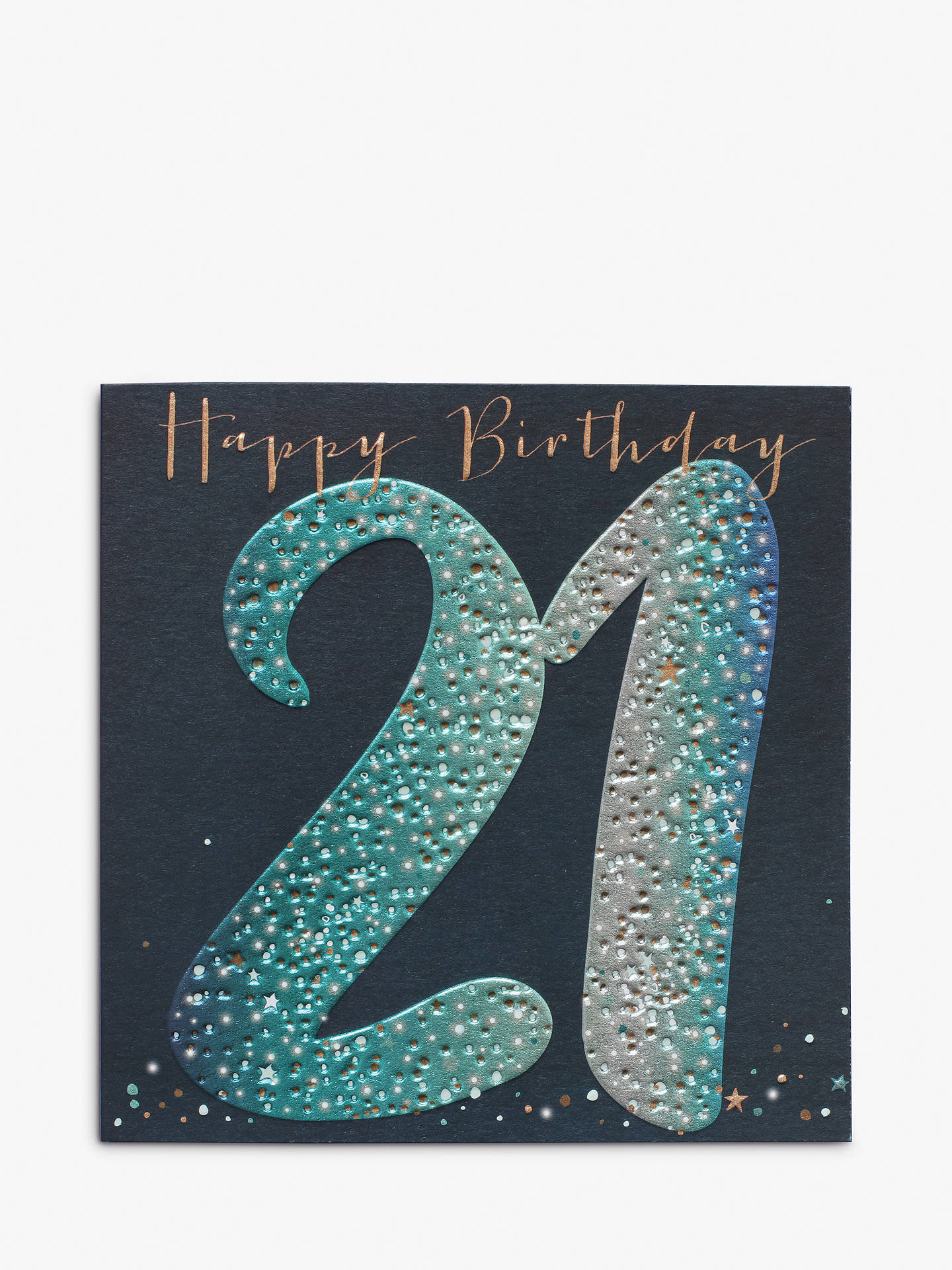 Belly Button Designs Foil 21st Birthday Card