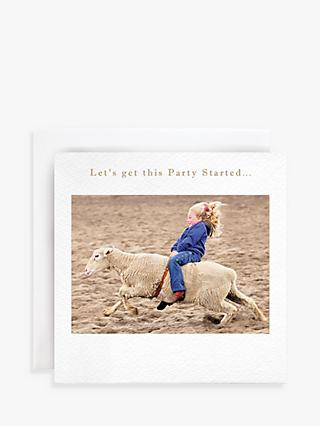 Susan O'Hanlon Sheep Rodeo Birthday Card