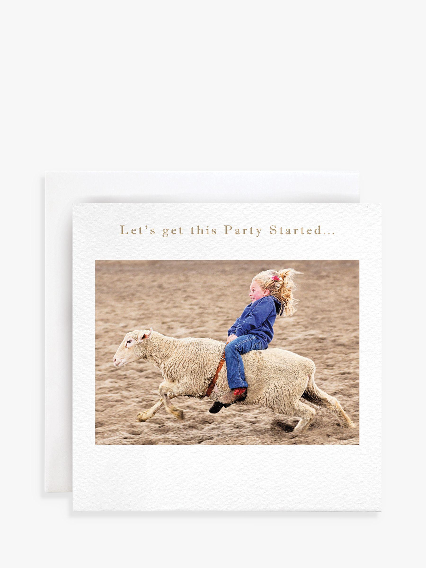 Susan O'Hanlon Susan O'Hanlon Sheep Rodeo Birthday Card