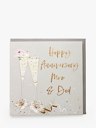 Belly Button Designs Mum & Dad Glasses Anniversary Card