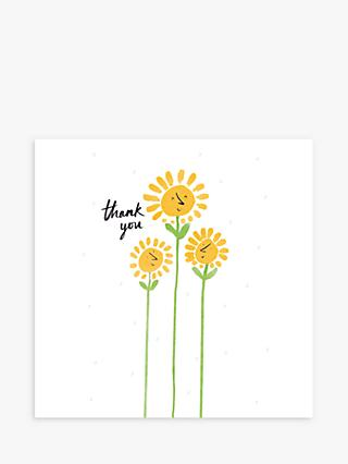 Woodmansterne Happy Flowers Thank You Card