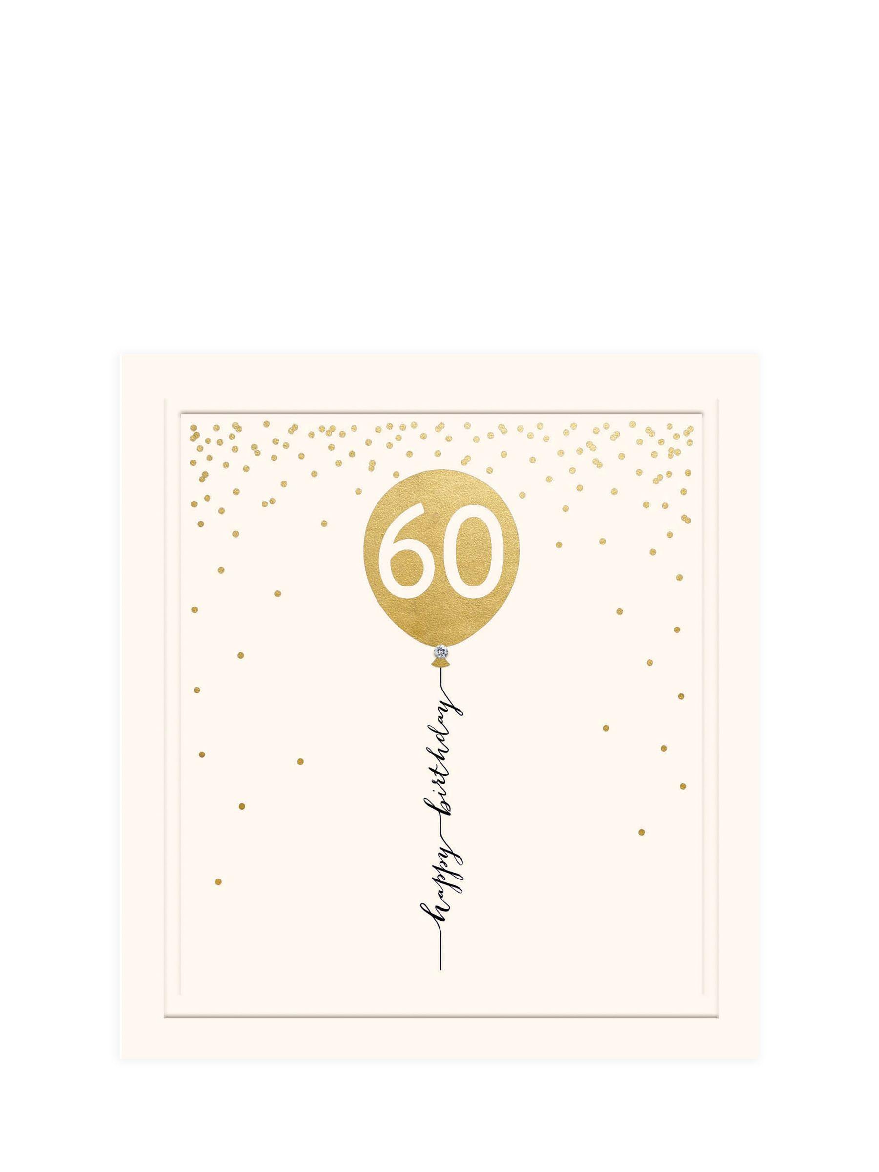Woodmansterne Woodmansterne 60th Balloon Birthday Card