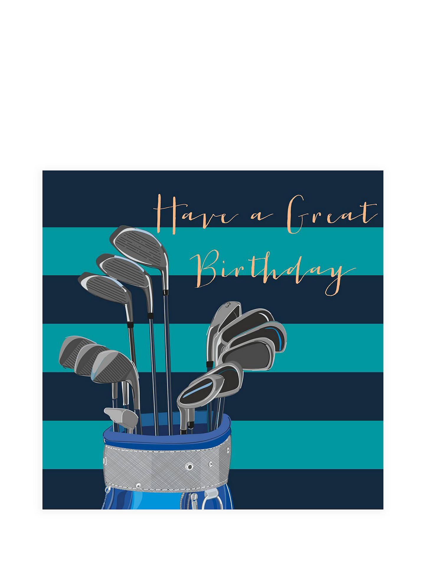 Buy Belly Button Designs Golf Birthday Card Online At Johnlewis