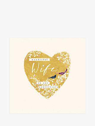 Woodmansterne Birds of a Feather Wife Anniversary Card
