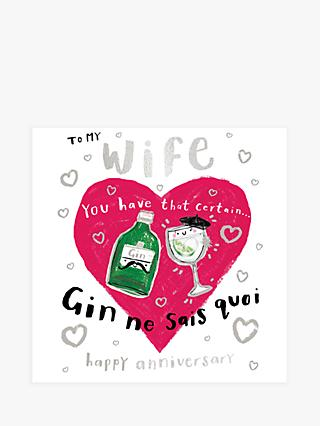 Cardmix Gin Wife Anniversary Card