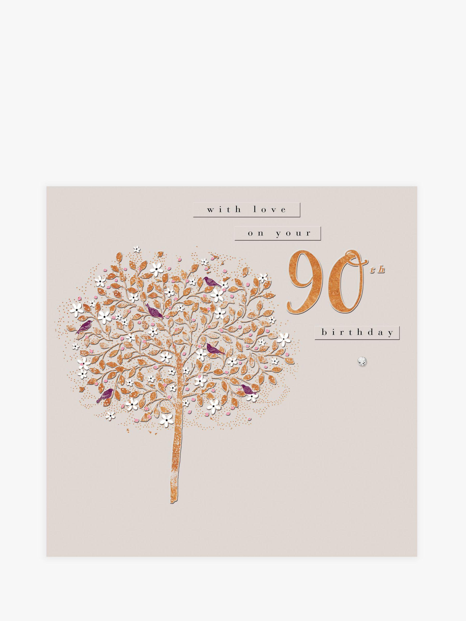 Woodmansterne Summer Flight 90th Birthday Card At John Lewis Partners