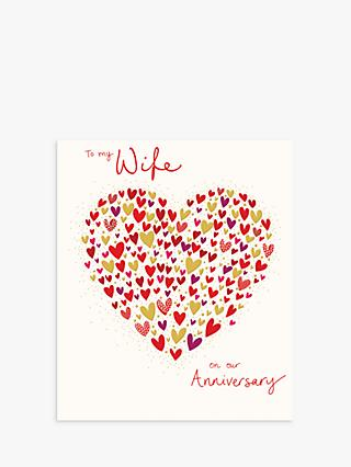 Woodmansterne Heart Full of Love Wife Anniversary Card