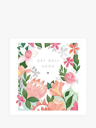 Woodmansterne Fuschias & Freesias Get Well Soon Card