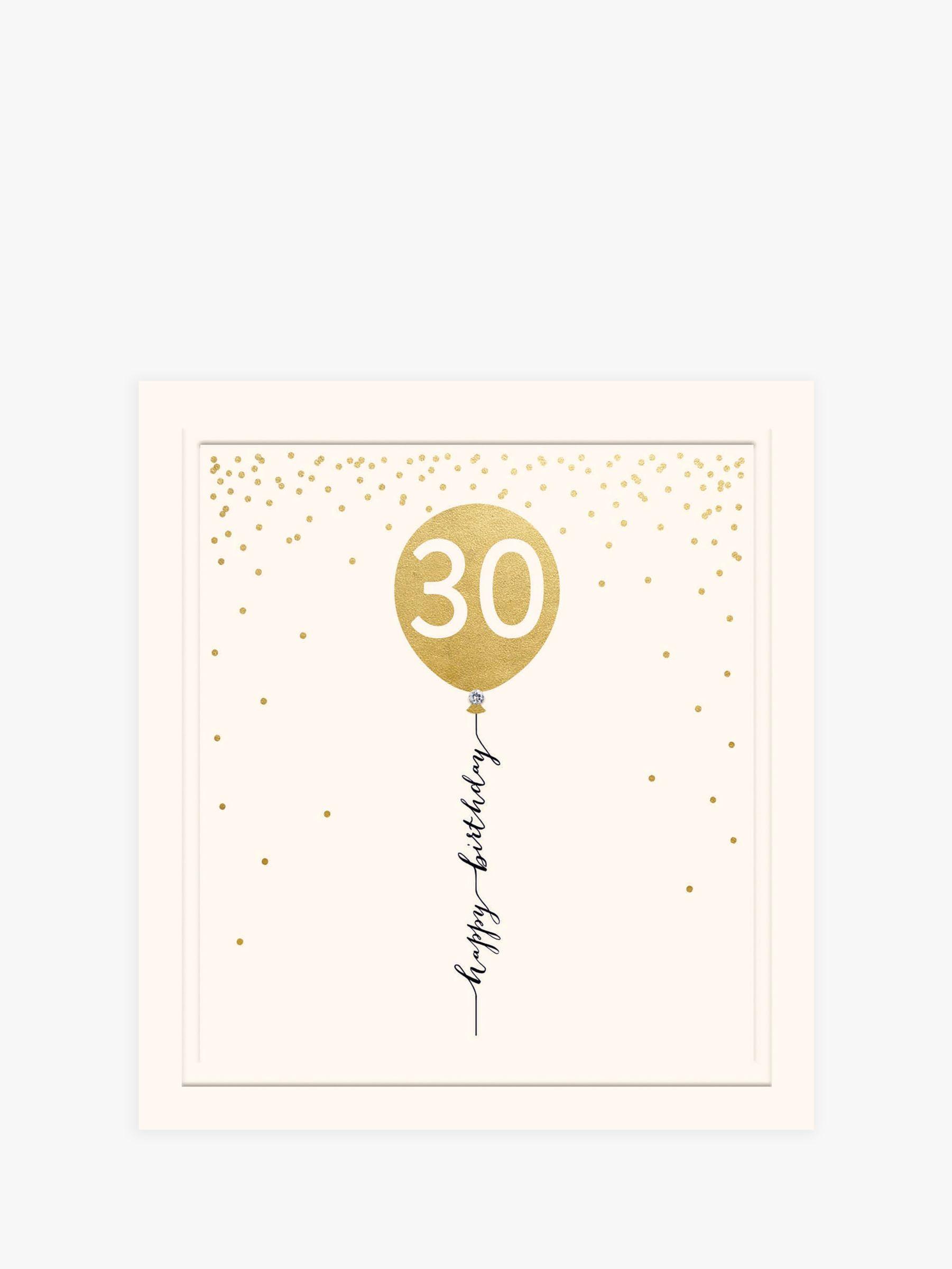 Woodmansterne Woodmansterne Balloon 30th Birthday Card