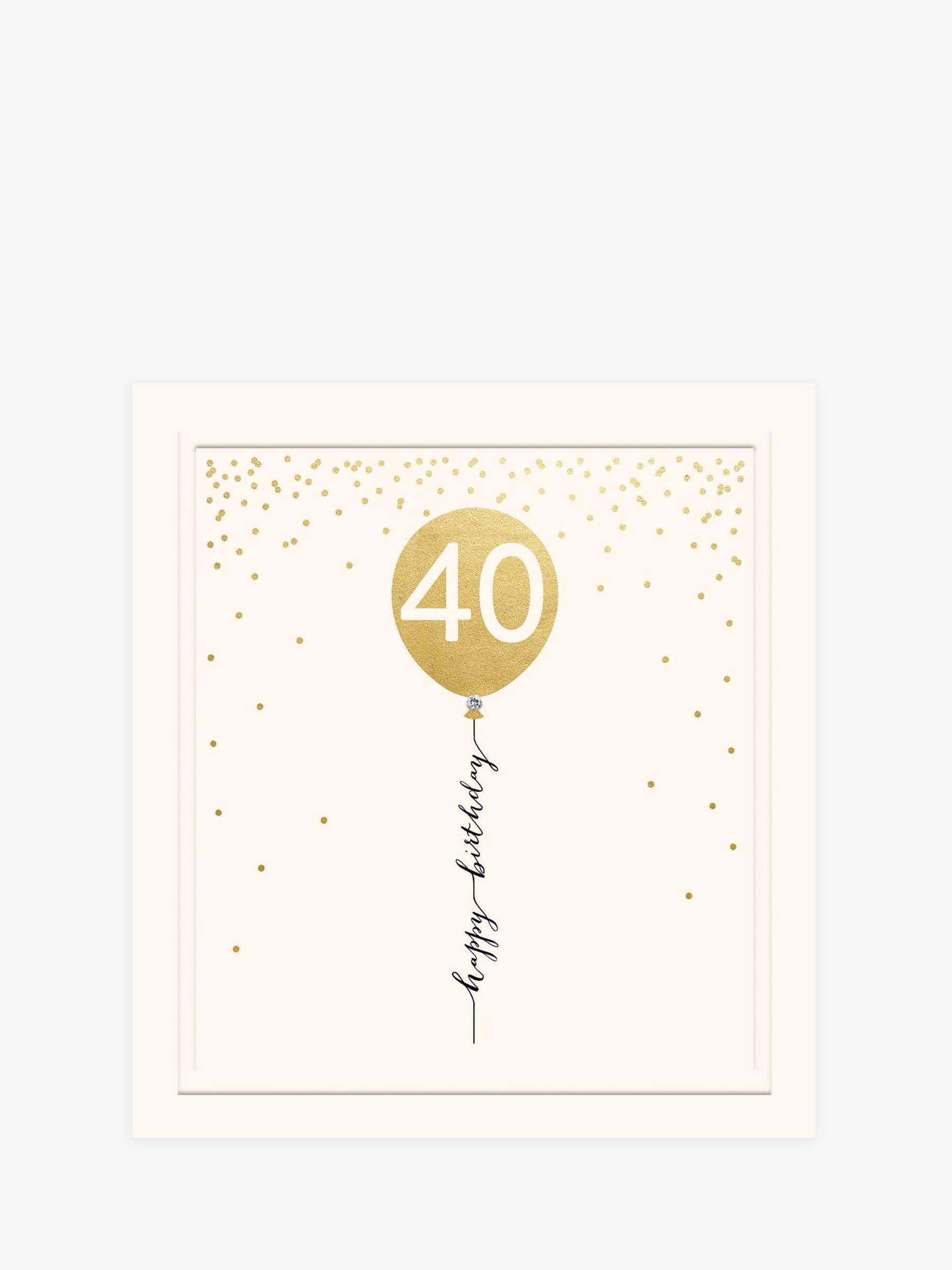 Woodmansterne Woodmansterne Balloon 40th Birthday Card