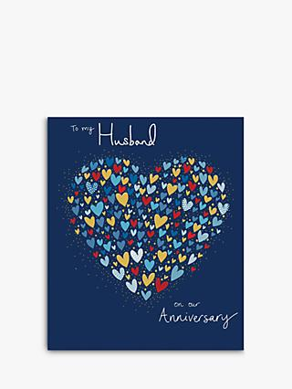 Woodmansterne Heart of Hearts Husband Anniversary Card