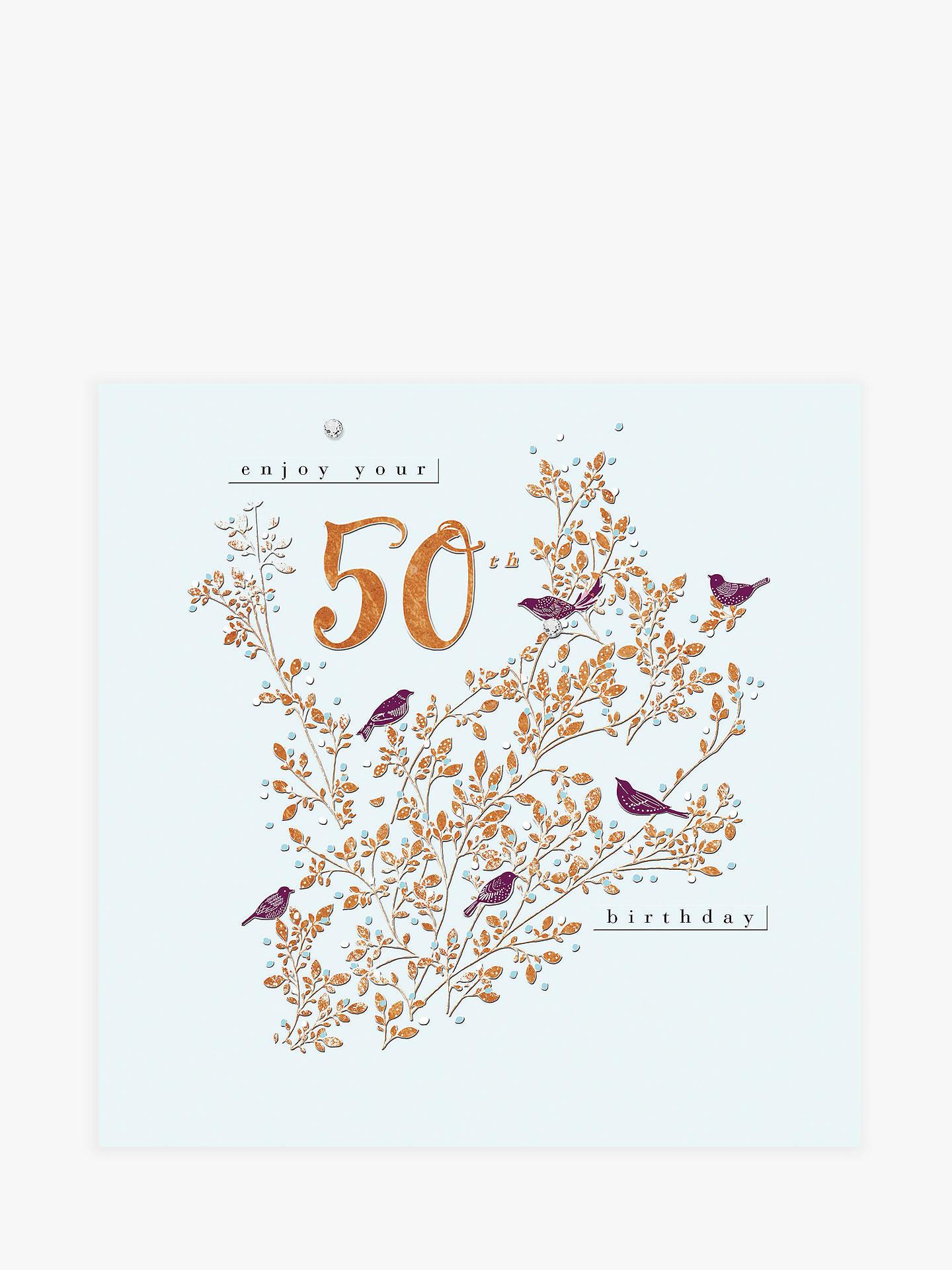 Buy Woodmansterne Branch 50th Birthday Card Online At Johnlewis