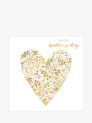 Art File Floral Heart Wedding Card