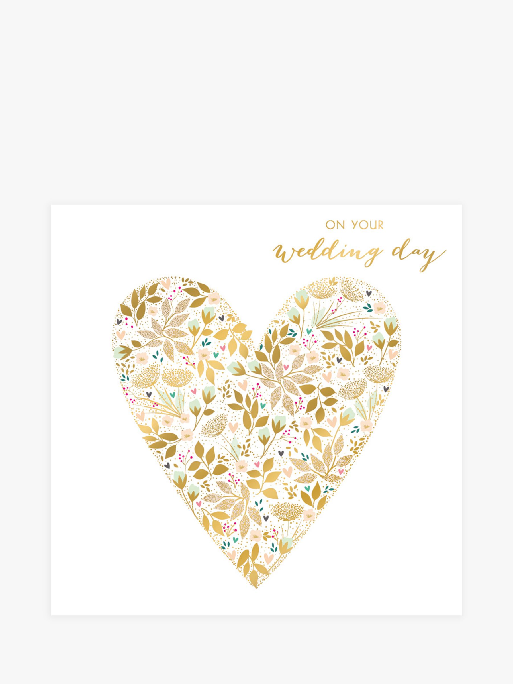 Art File Art File Floral Heart Wedding Card