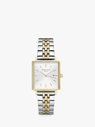 ROSEFIELD Women s Date Two Tone Bracelet Strap Watch 184cf49a10