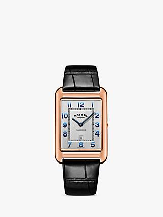 586b4b70b537 Rotary Men s Cambridge Date Leather Strap Watch
