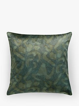 John Lewis & Partners Italian Velvet Square Cushion, Tourmaline