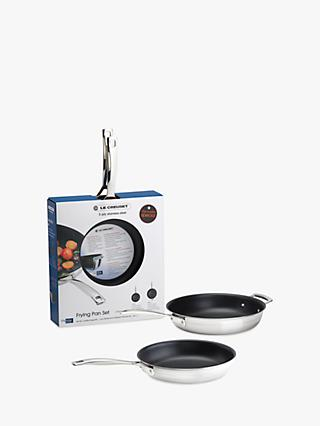 Le Creuset 3-Ply Stainless Steel Non-Stick Frying Pans, Set of 2
