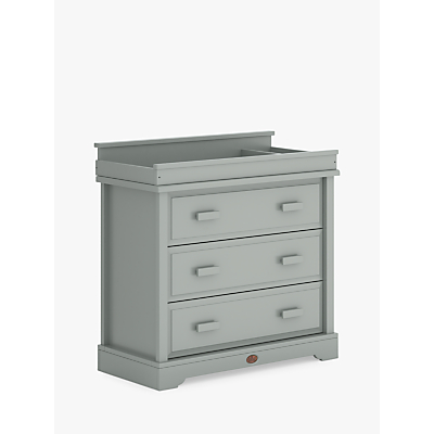 Image of Boori 3 Drawer Dresser with Squared Change Station, Pebble Grey