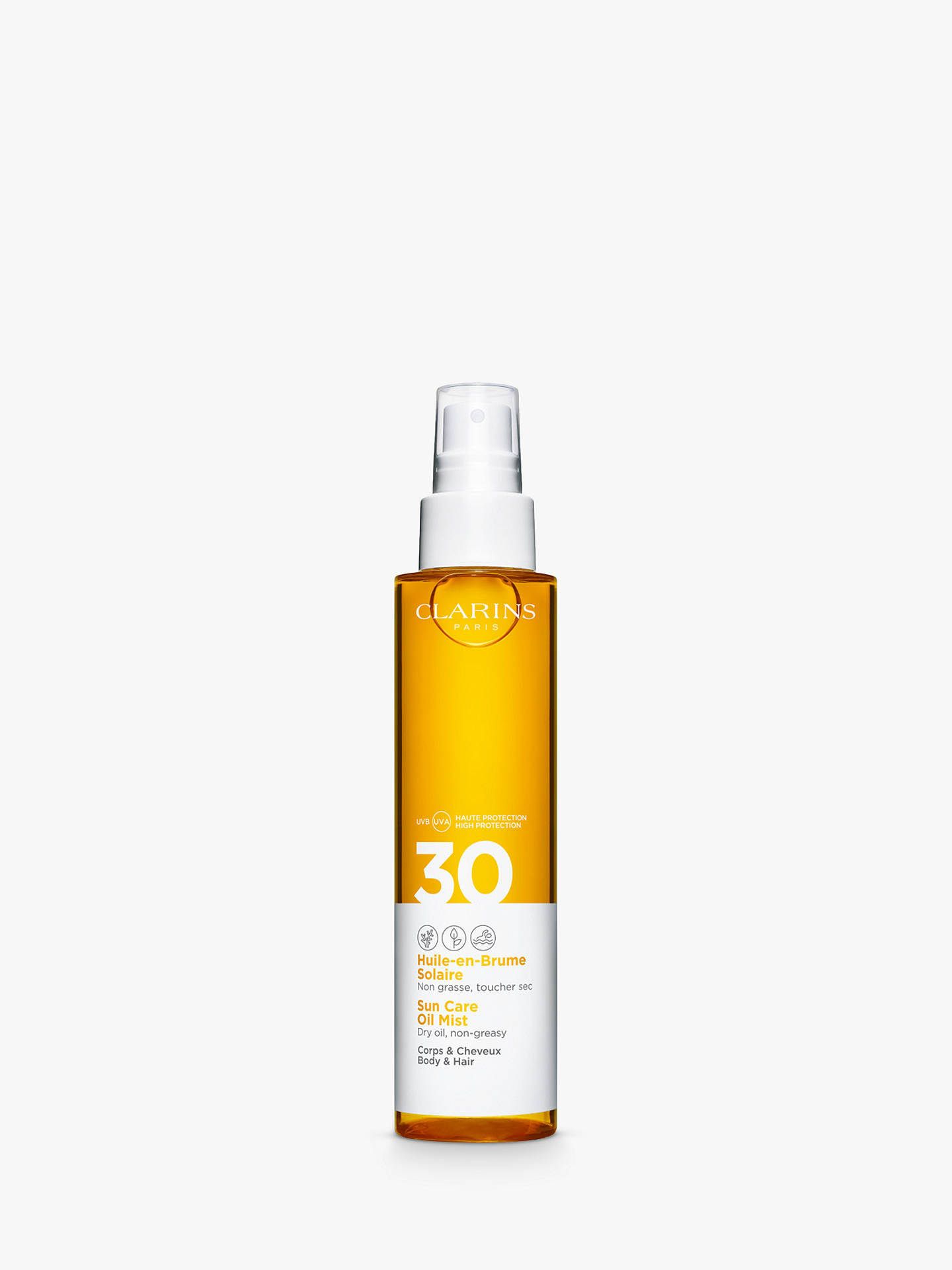 Buy Clarins Sun Care Oil Mist for Body and Hair SPF 30, 150ml Online at johnlewis.com