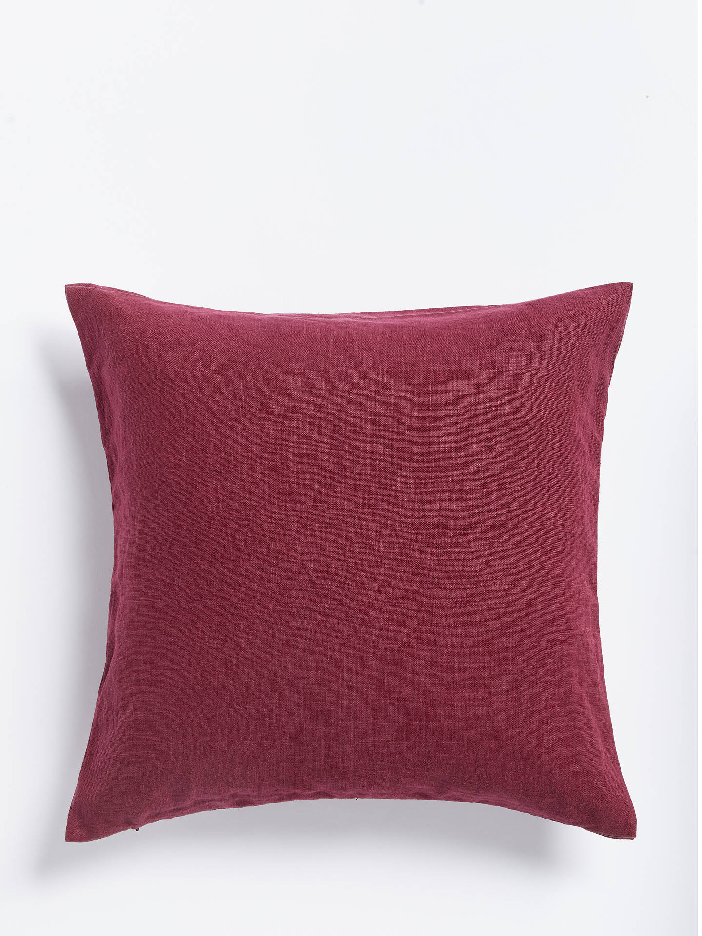 Buy John Lewis & Partners Linen Cushion, Plum Online at johnlewis.com