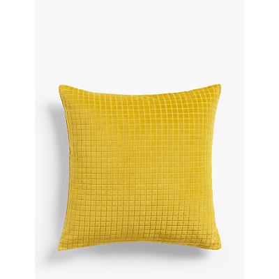 House by John Lewis Velvet Grid Cushion