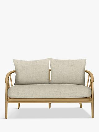 Frome Range, Croft Collection Frome Loveseat, Light Leg, Fleckerl Natural