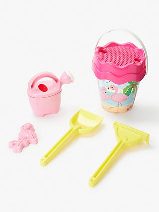 John Lewis & Partners Flamingo Bucket and Spade Set