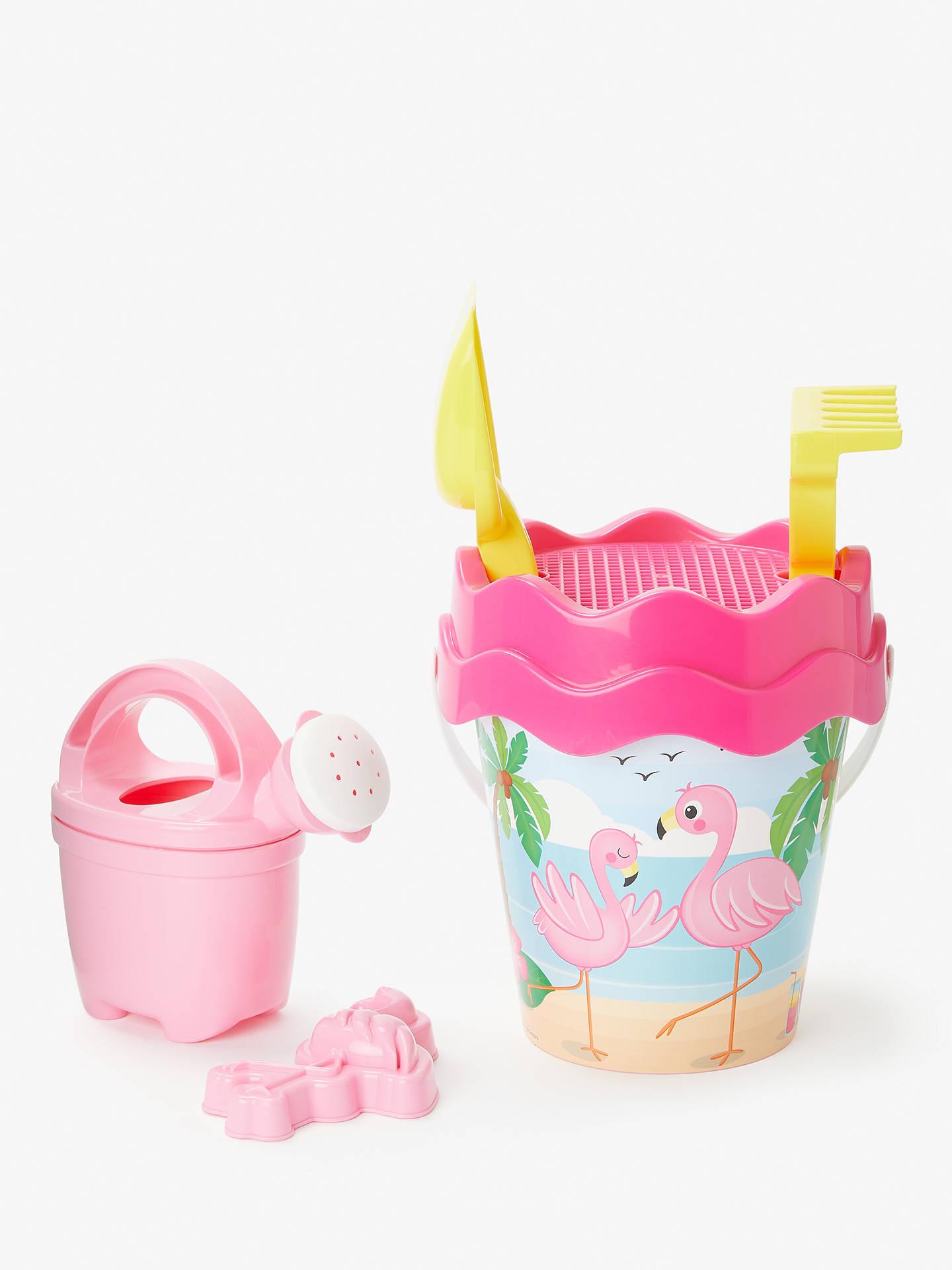 0a131c6b51a1 ... Buy John Lewis & Partners Flamingo Bucket and Spade Set Online at  johnlewis.com