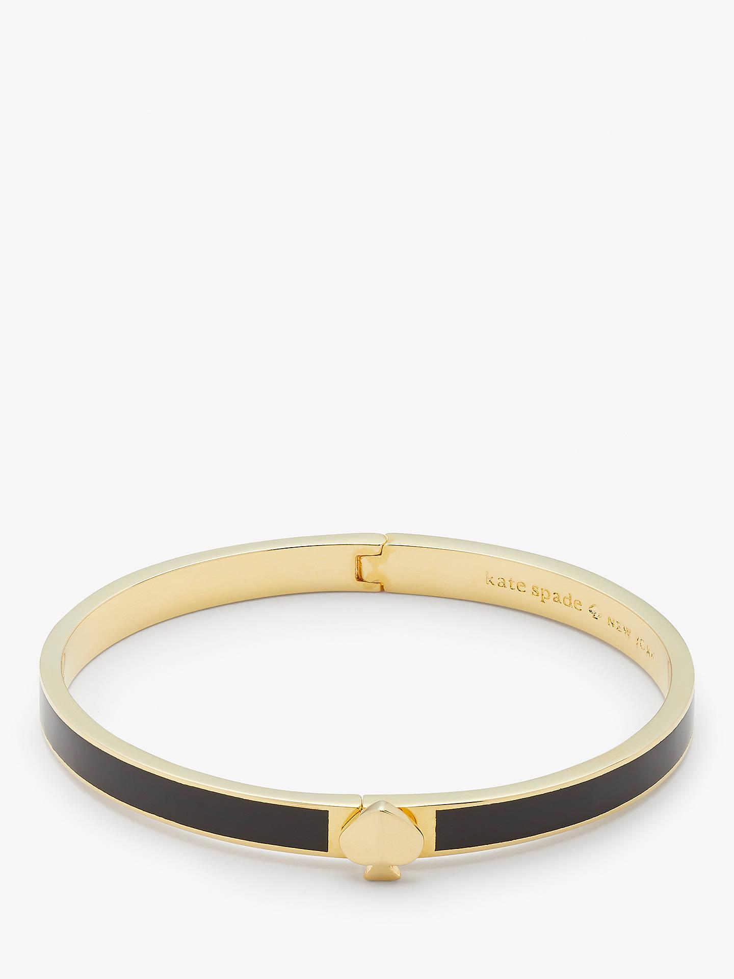 29328c9f32d15 kate spade new york Logo Enamel Bangle, Gold/Black