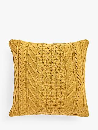 John Lewis & Partners Organic Cotton Knit Cushion